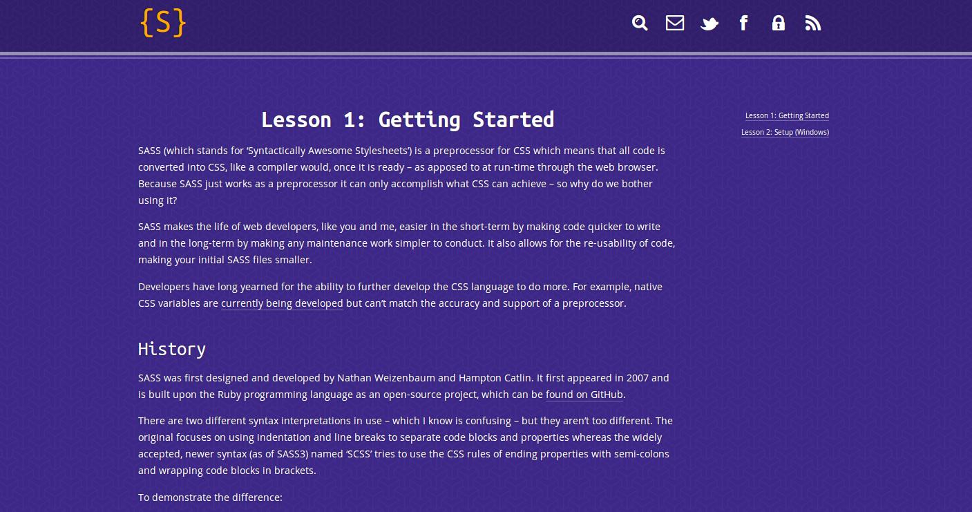 New SASSy Blog!